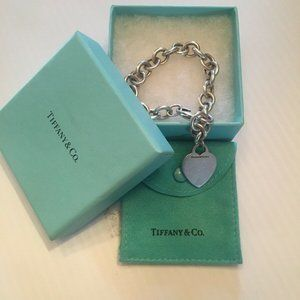 Tiffany & Co  Heart Tag  Bracelet 7""